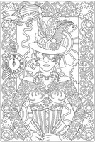 Coloriage adulte Costume belle époque