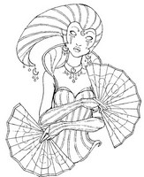 Coloriage adulte Costume carnaval Lune