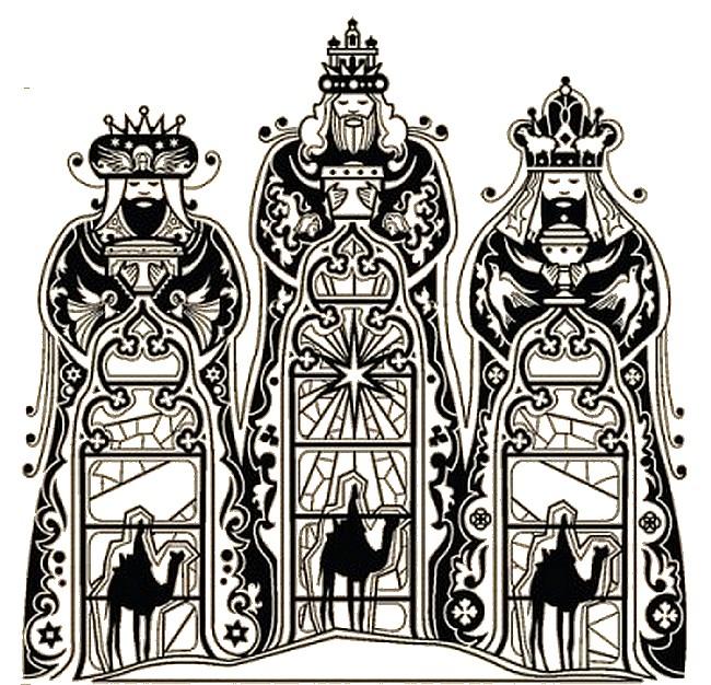 Desenho Para Colorir Anti Stress Tres Reis Magos Os Tres Reis 2