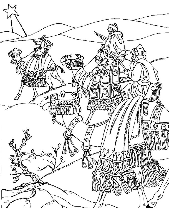 Adult Coloring Pages Wise Men