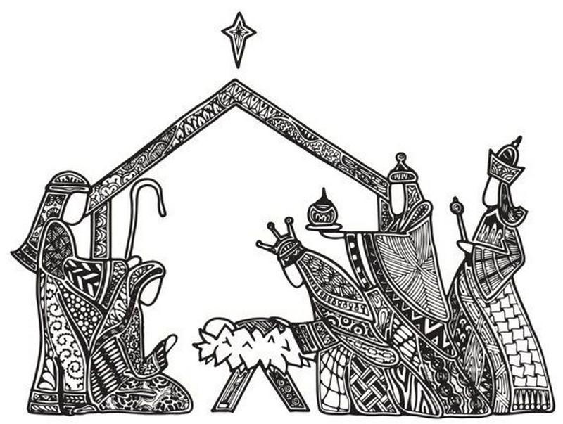 Desenhos Para Colorir Adultos Tres Reis Magos
