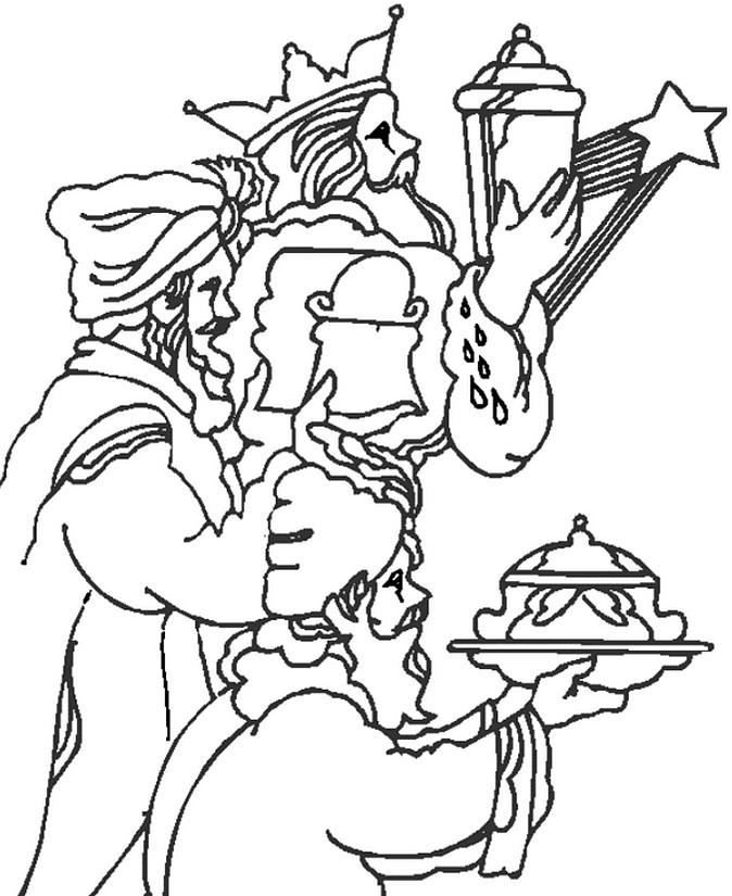 Dibujo Para Colorear Relajante Reyes Magos El Dia De Los