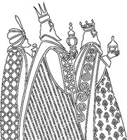 Adult coloring page Wise Men
