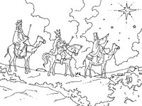 Art Therapy coloring page The Magi