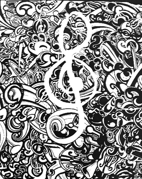 music themed coloring pages - coloriage anti stress fete de la musique 11