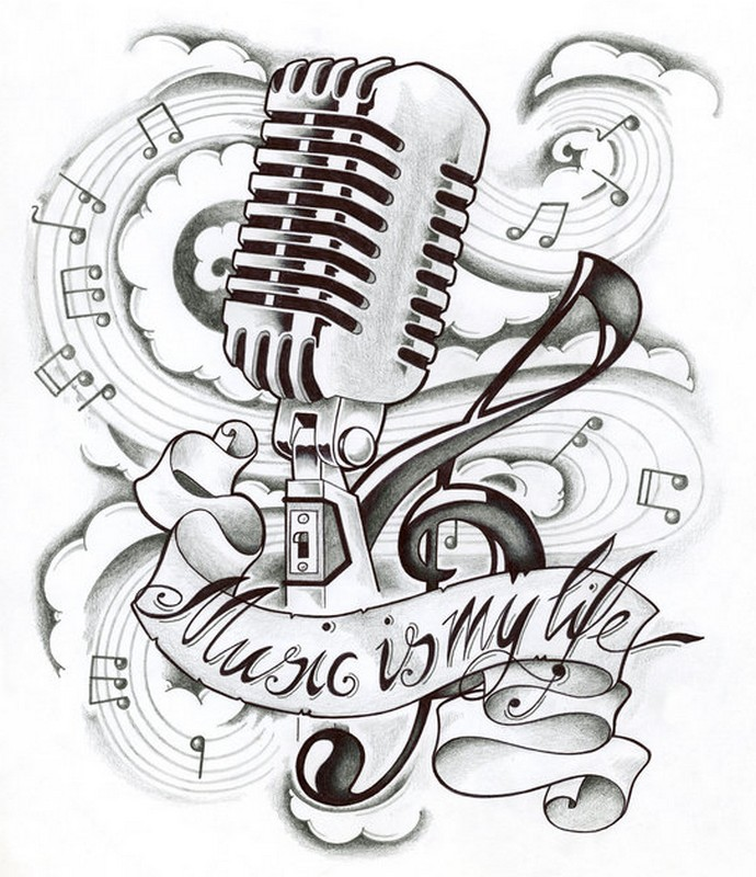 Adult Coloring Page Music Is My Life 13