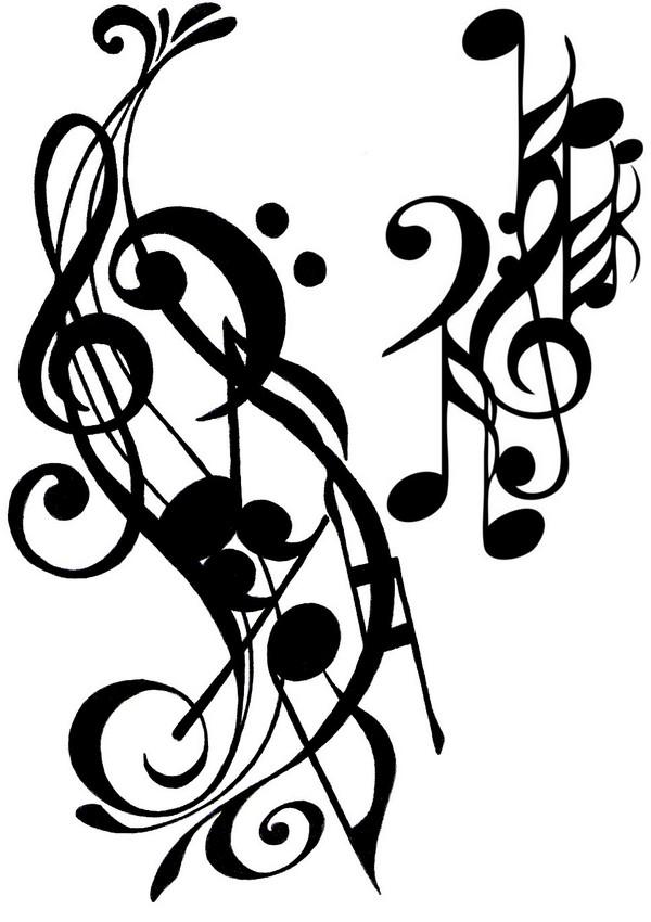 ausmalen als antistress musik  tätowierung