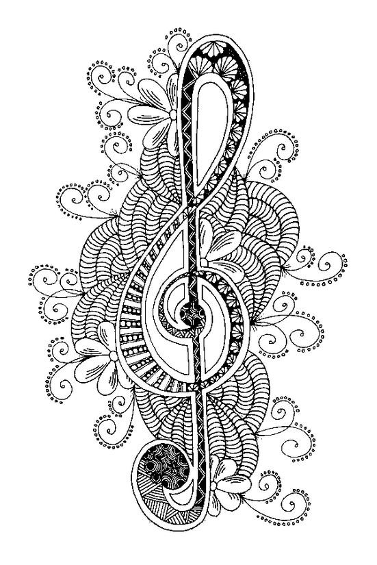ausmalen als antistress musik  schlüssel von boden 6
