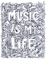 adult coloring page tattoo musical notes tattoo musical notes - Music Coloring Pages