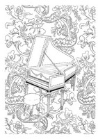 Coloriage anti-stress Clavecin