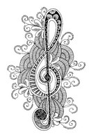Art Therapy coloring page Treble clef