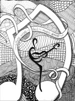 Art Therapy coloring page Where words fail, music speaks