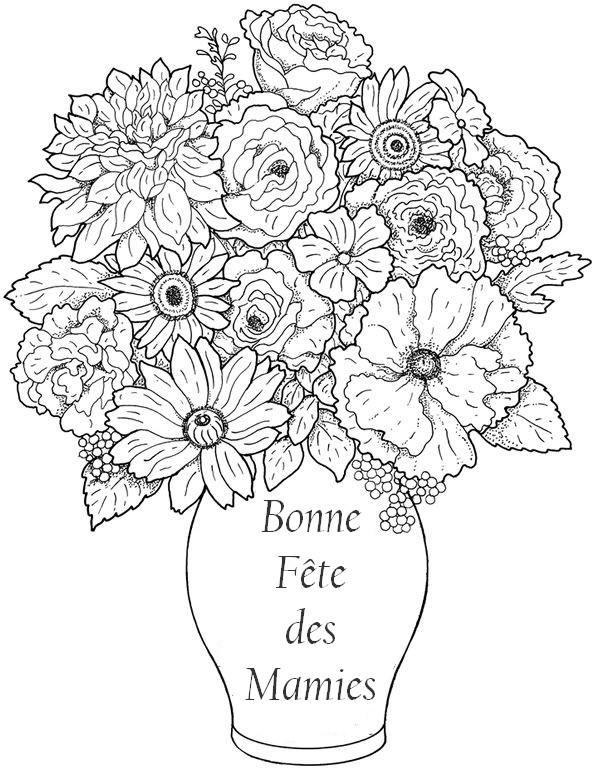 Coloriages Anti Stress Fete Des Grands Meres