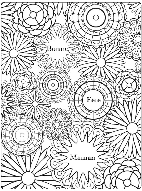Coloriage anti stress fete des meres 9 for Mothers day coloring pages religious