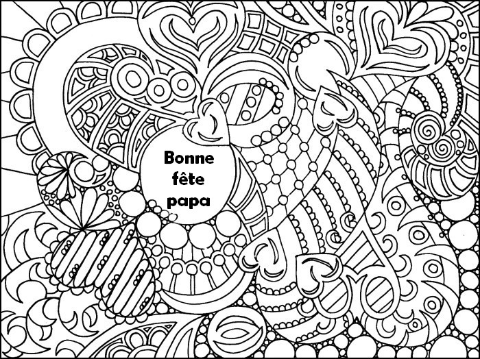 Coloriage anti stress fete des peres 2 - Idee dessin fete des peres ...