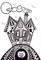 Art Therapy coloring page Haunted house