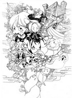 Coloriage adulte Carte Halloween