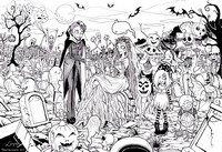 Coloriage adulte Zombies