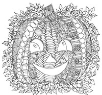 Art Therapy coloring page Pumpkin