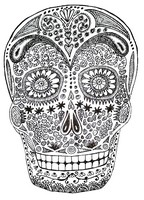 Art Therapy coloring page Death's-head
