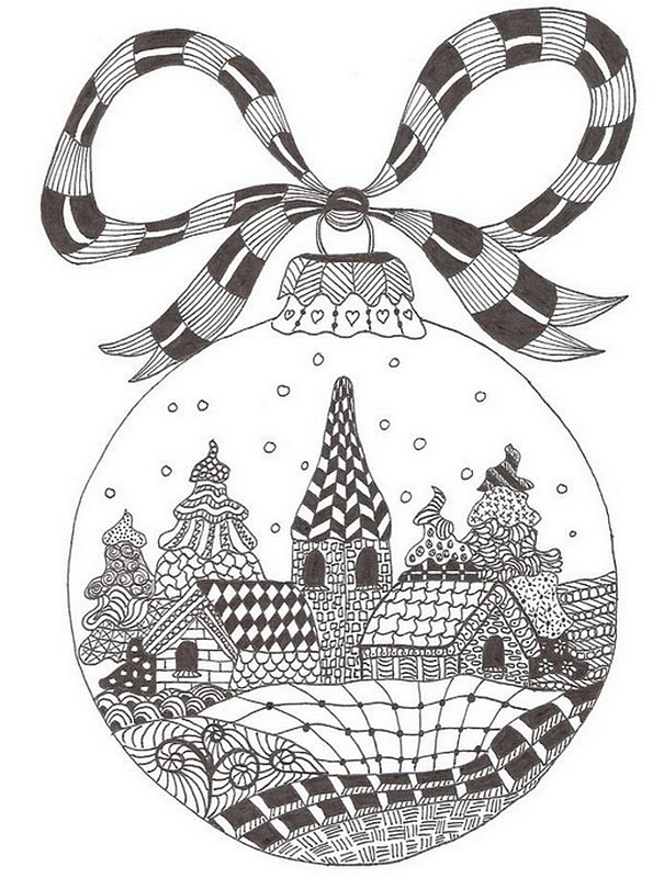 art therapy coloring page christmas