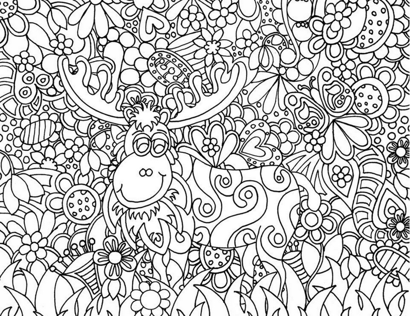 Art Therapy Coloring Page Christmas Santa Claus S