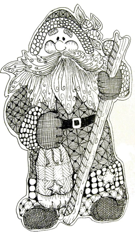Art Therapy coloring page Christmas : Santa Claus 6