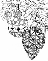 Adult Coloring Page Christmas Balls