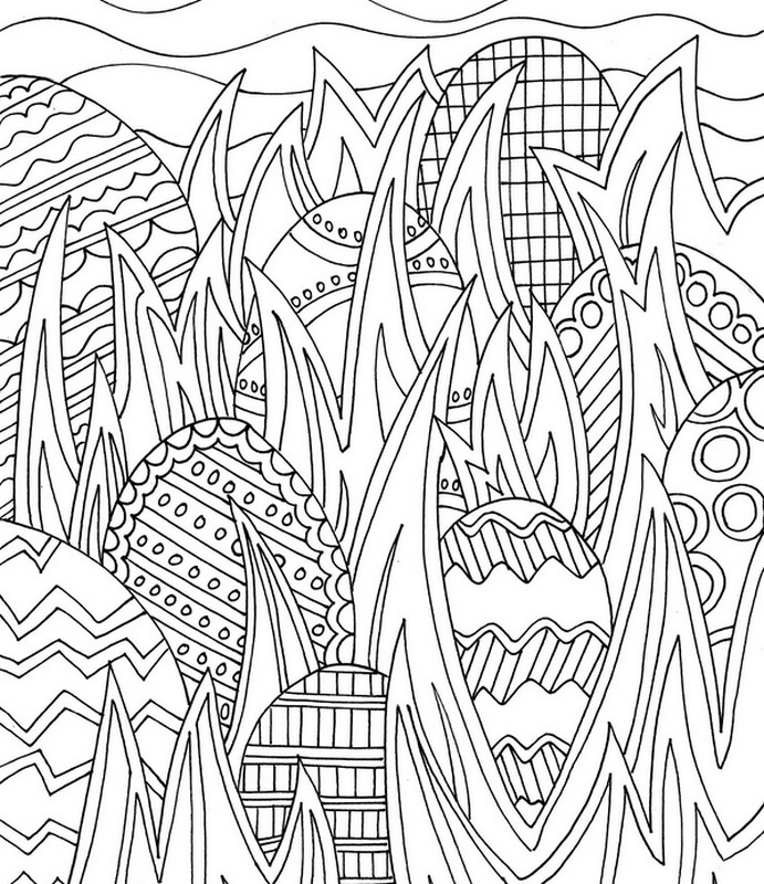 Hunting In Eggs More Coloring Pages Easter