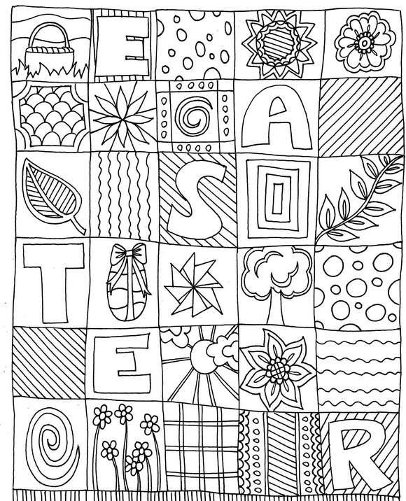 Art Therapy coloring page Easter : Easter 2