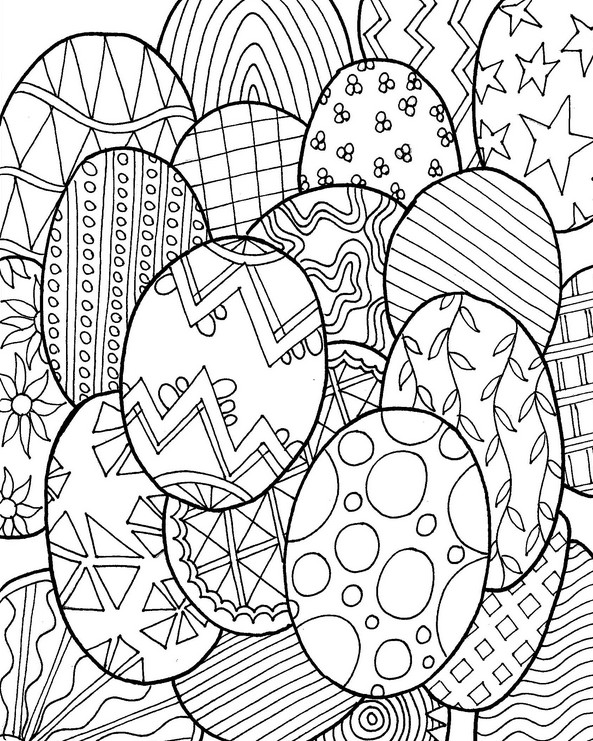 adult coloring page easter easter eggs 3