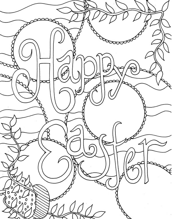 Volwassen Kleurplaten Lente Art Therapy Coloring Page Easter Happy Easter 4