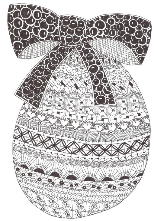 Adult coloring page easter : Easter egg 7