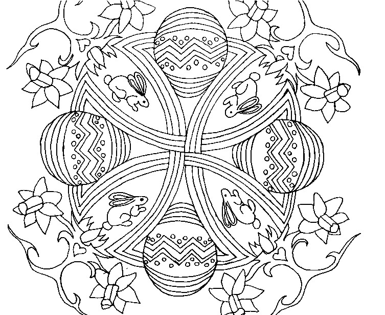 Art Therapy Coloring Page Easter Mandala Of Easter 8