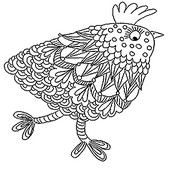 Art Therapy coloring page Hen of Easter