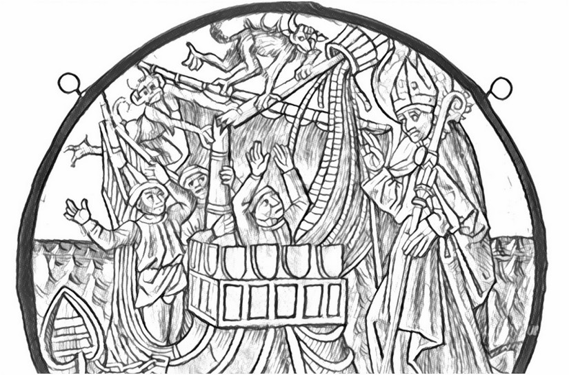Saint Nicholas Coloring Page ❤+❤Feast Day December 6 | 544x825