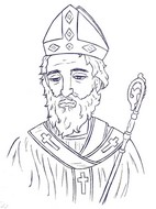 Adult coloring page Saint Nicholas Day