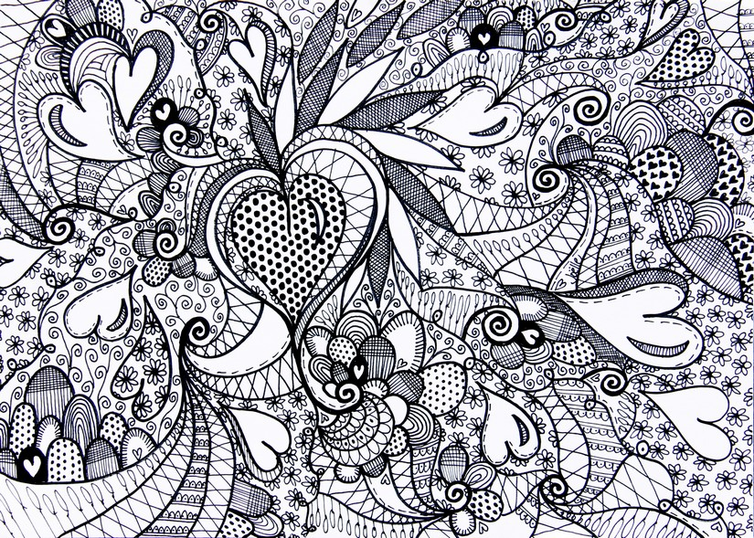 Hearts More Coloring Pages