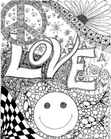 Art Therapy coloring page Love