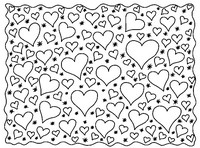 Art Therapy coloring page Hearts