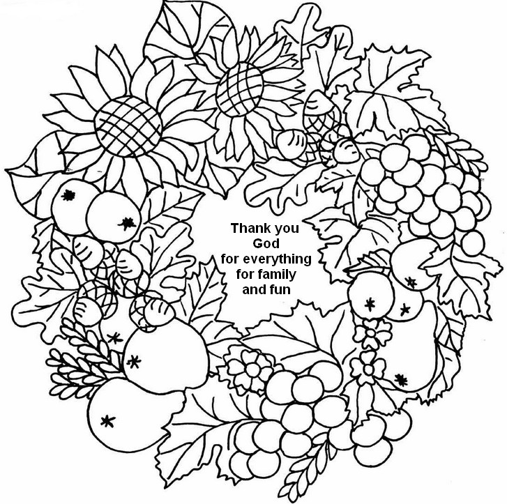 Happy Thanksgiving Coloring Pages For Adults Adult