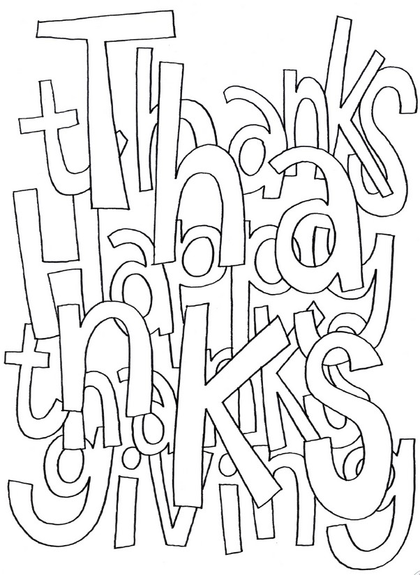 Adult coloring page thanksgiving Thanksgiving 4