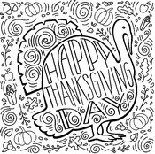 Coloriage adulte Thanksgiving