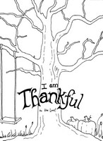 Art Therapy coloring page I'm thankful to the lord!
