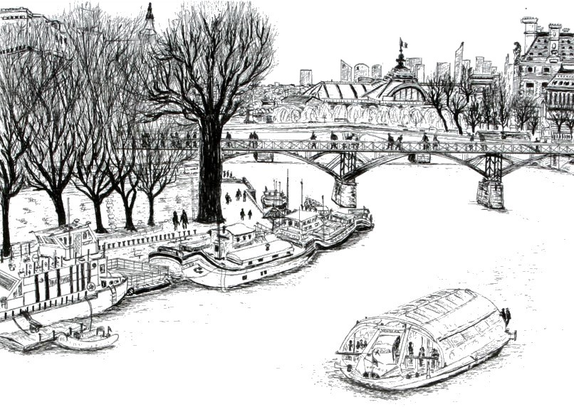 Disegno da colorar antistress Paris
