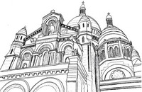 Art Therapy coloring page Basilica of the Sacred Heart