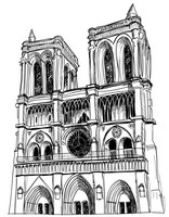 Art Therapy coloring page Our Lady of Paris