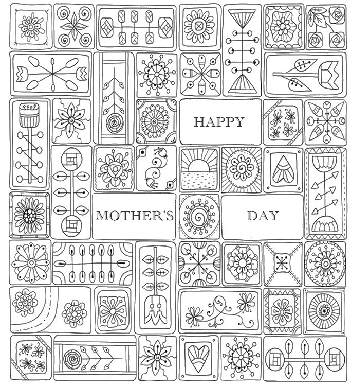 Adult Coloring Pages Mothers Day