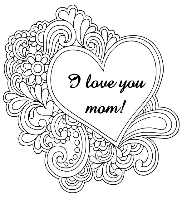 Adult Coloring Pages Mother\'s day