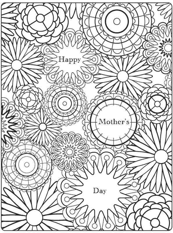 Anti Stress Coloring Pages Mother S Day